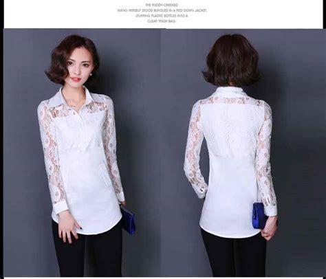 Baju Lengan Panjang Warna Hitam Putih baju atasan putih lengan panjang 2016 myrosefashion