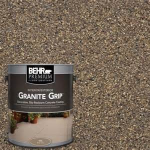 behr premium 1 gal gg 14 autumn mountain granite grip decorative concrete floor coating 65501