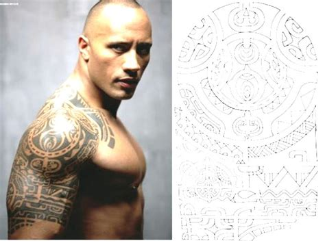 tattoo the rock dwayne johnson significado fotos y el significado de los tatuajes maories