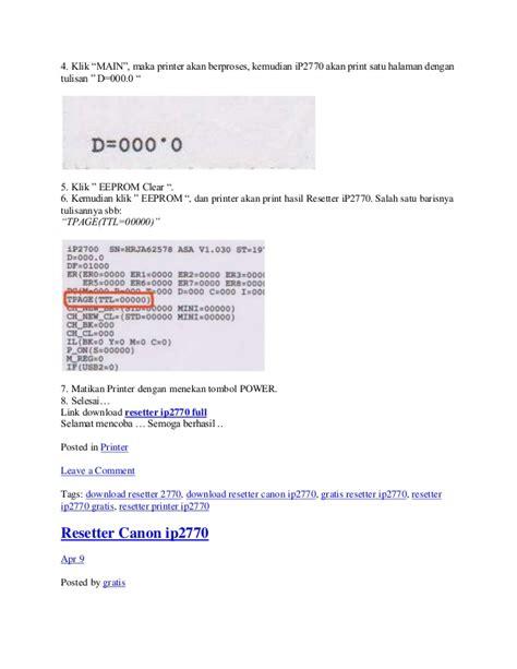 software resetter ip2770 v1074 cara penggunaan resetter ip2770