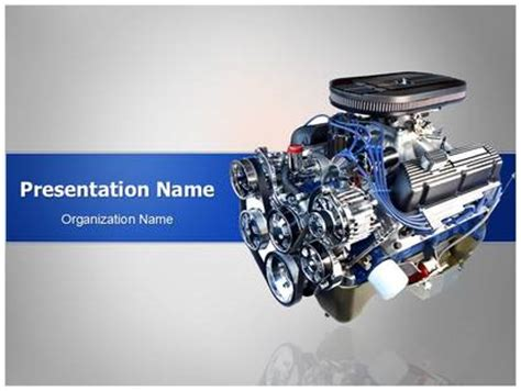 Automotive Engine Powerpoint Template Background Engine Templates