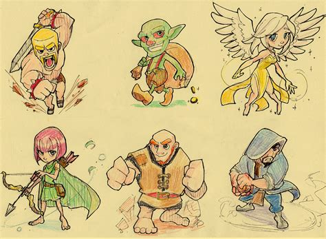 Kaos Anime Coc Clash Of Clans Clash Royal Android clash of clans by airbax on deviantart
