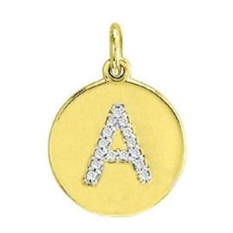 gold initial disc pendant charm letters a z new ebay
