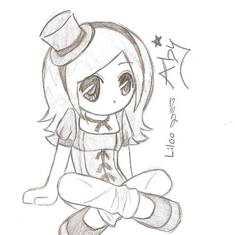 tutorial menggambar chibi anime easy anime drawings in pencil chibi coloring pages easy