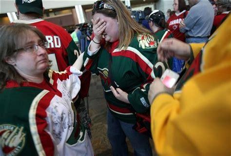 mn wild fan cam boogaard memorial a chance to say goodbye hockey wilderness