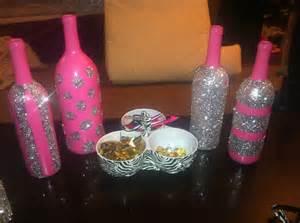 decorated wine bottles decor