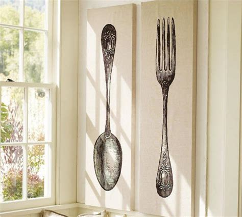 wall decor spoon and fork 10 spoon and fork wall decor for creative kitchen rilane