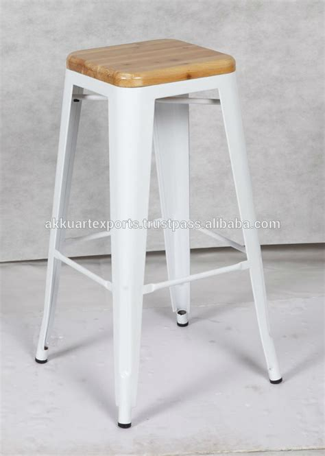 Industrial Counter Stool With Wood Top by Vintage Industrial Bar Stool With Wood Top Counter