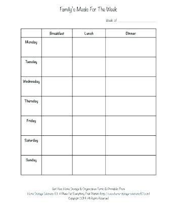 Editable Weekly Meal Planner Template Printable For Blank Dinner Menu Danielmelo Info Blank Menu Template To Print