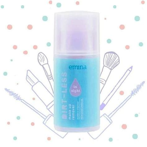 Emina Toner 50ml emina dirt less in sight waterproof makeup remover 50ml