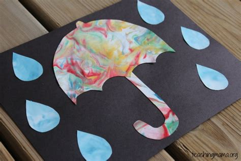 craft activities for rainy day umbrella craft