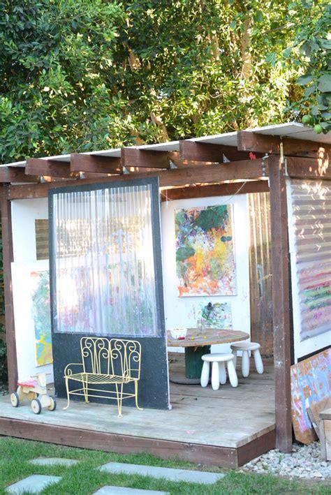 backyard art studio art studio and backyard art space for kids meri cherry