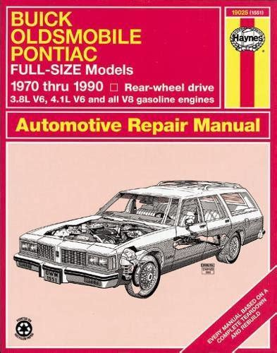 best auto repair manual 1992 oldsmobile achieva parking system buick olds pont fullsize rwd 70 90 haynes repair manuals at virtual parking store