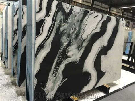 Dalmata Marble, China Panda White Marble Slab Tile for