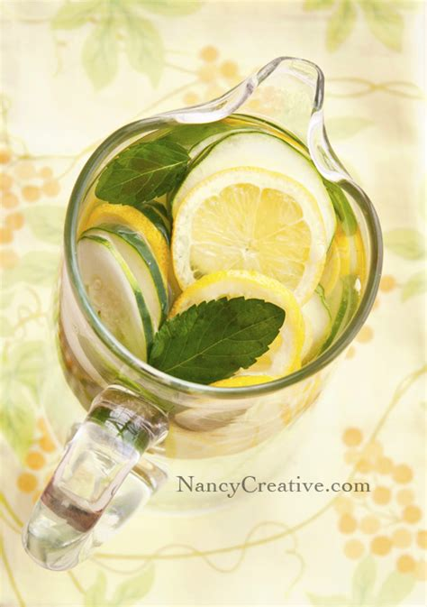Lemon Mint Cucumber Detox Water Recipe by Lemon Mint Cucumber Water Aka Detox Water Nancyc