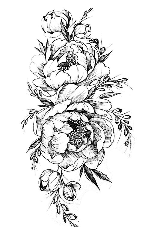 add on tattoos designs flower sketch flowers ideas for review