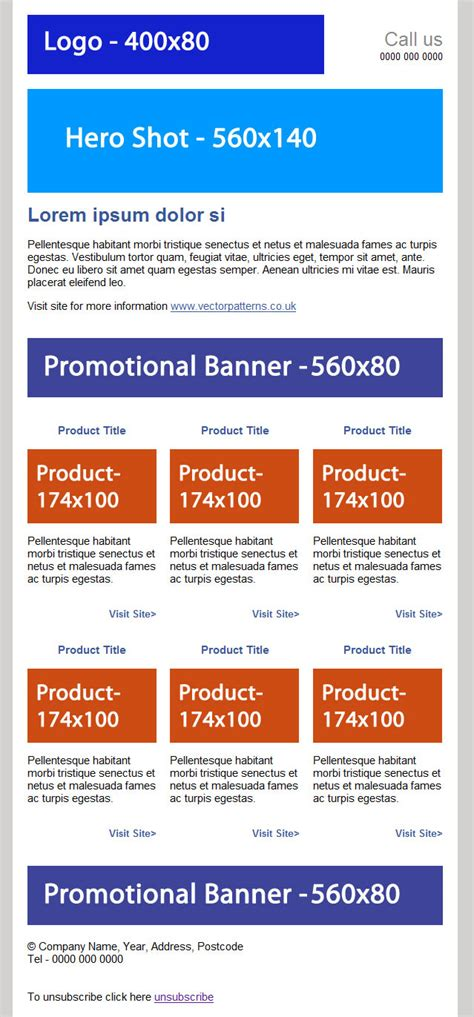 ecommerce email template free ecommerce html email template duane