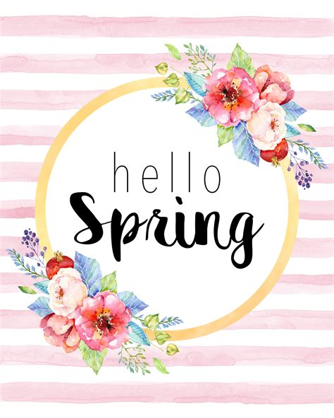 Wall Stickers Home Decor free printable hello spring collection the cottage market