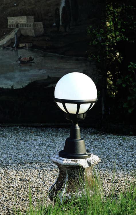 White Globe Pedestal Lantern Outdoor Lighting Centre Outdoor Lighting Centre