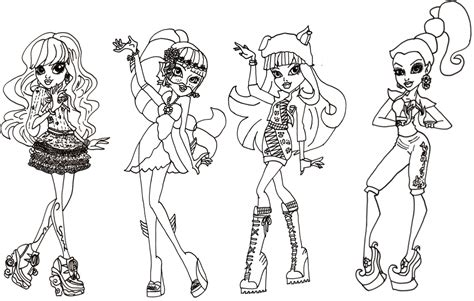 monster high new coloring pages coloring pages for girls monster high bestofcoloring com