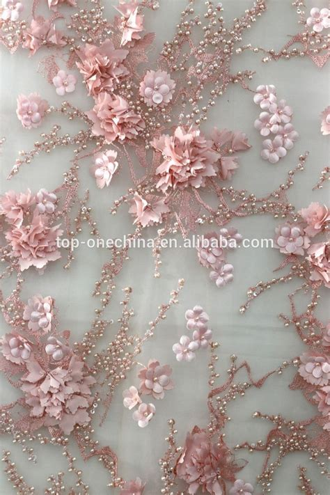 embroidery fabric 2016 bead embroidery 3d lace fabric 3d flower lace