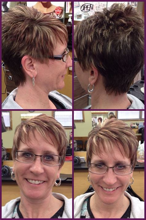 highlights and low lights for a pixie cut a pixie haircut w burgundy red lowlights light blonde