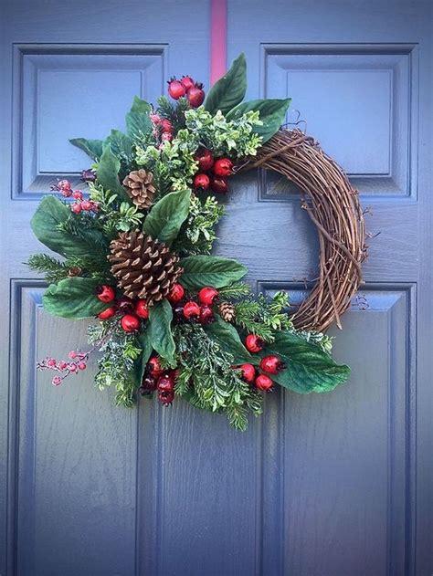 easy diy outdoor winter wreath   door kawaii interior