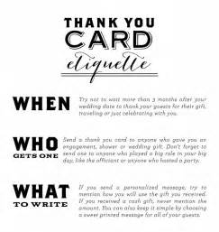 thank you card etiquette wedding ideas