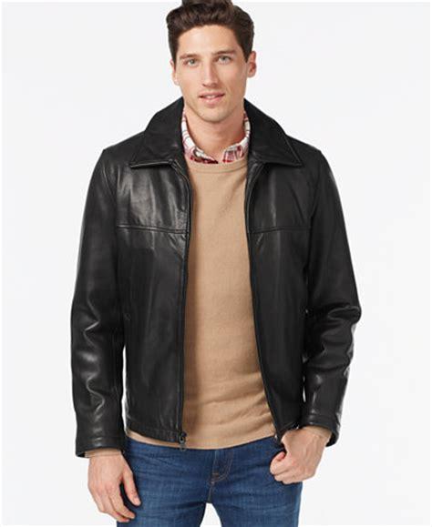 Jaket Cewek List White hilfiger leather classic jacket coats jackets macy s