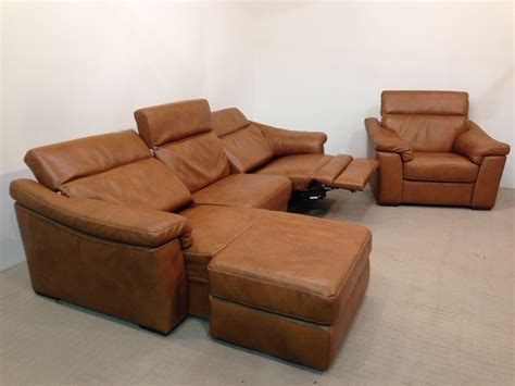 Natuzzi Editions Sensor B760 Electric Chaise Sofa Static Chaise Recliner Sofa