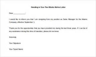2 week notice template two weeks notice letter 31 free word pdf documents