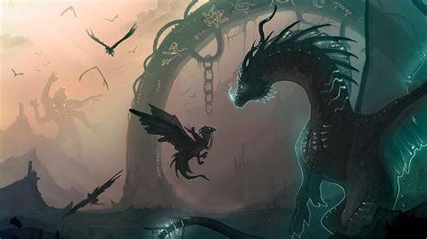 anime dragon girl wallpaper dragon fantasy anime wallpaper wallpaper wallpaperlepi
