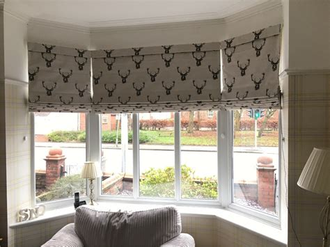 Bow Window Blinds roman blinds harmony blinds of bolton and chorley