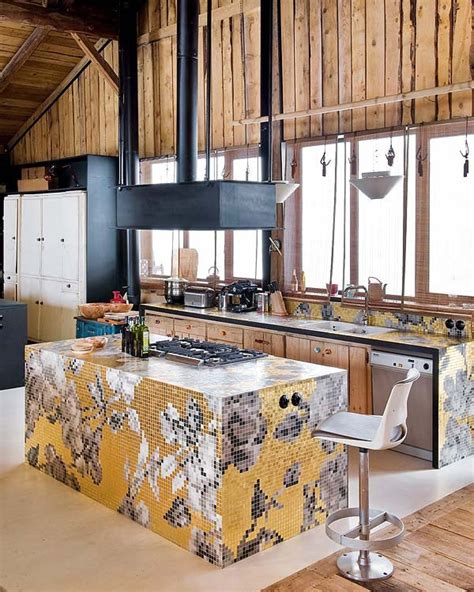 Modern Chic Kitchen Designs 49 Colorful Boho Chic Kitchen Designs Digsdigs
