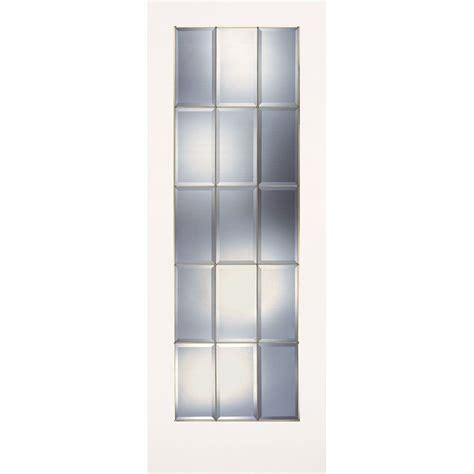 Feather River Doors 32 In X 80 In 15 Lite Clear Bevel 15 Light Interior Door