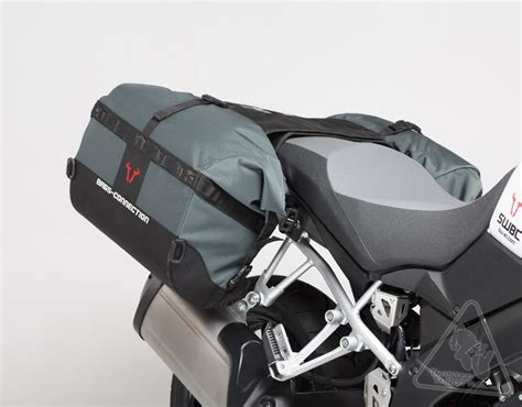 Suzuki V Strom Saddlebags Sw Motech Bags Connection Dakar Waterproof Soft Saddlebags
