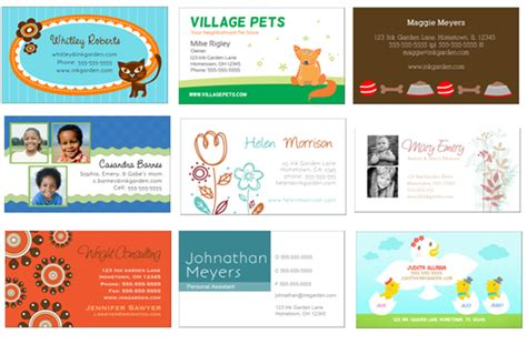babysitting business cards templates free printable 50 free business cards great for pets