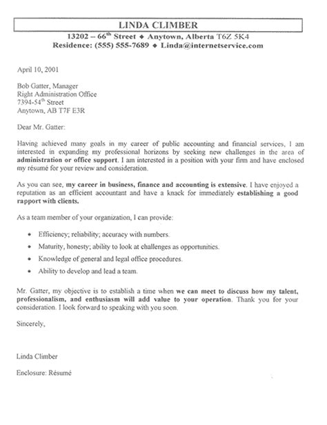 Accounting Cover Letter Accountant Cover Letter Exle