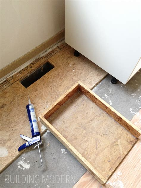 how to level kitchen cabinets redirecting a vent register under a cabinet