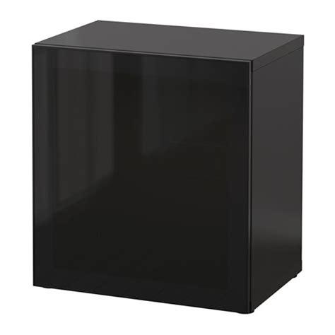 besta 60x40x64 best 197 shelf unit with glass door black brown glassvik