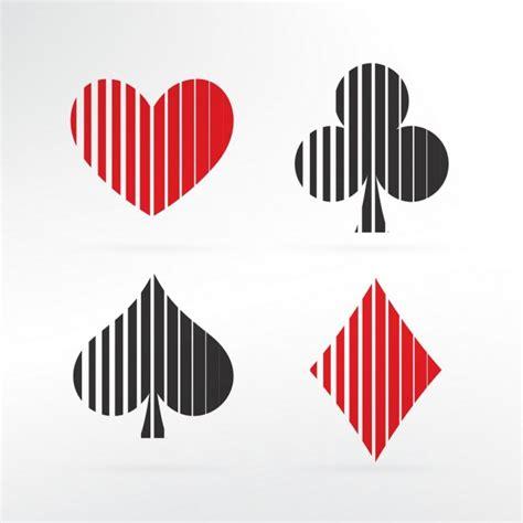 Set Cardi Pokego set of card symbols vector free