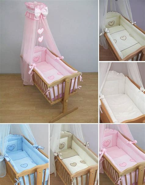Cradle Bedding Sets Nursery Crib Bedding Accessories Cradle Bumper Set Canopy Holder Ebay