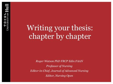 how to write a dissertation chapter writing your thesis chapter by chapter