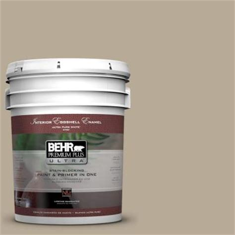 behr premium plus ultra 5 gal n310 4 desert khaki eggshell enamel interior paint 275405 the