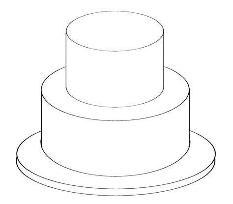 template for cake two tier cake clipart clipartsgram