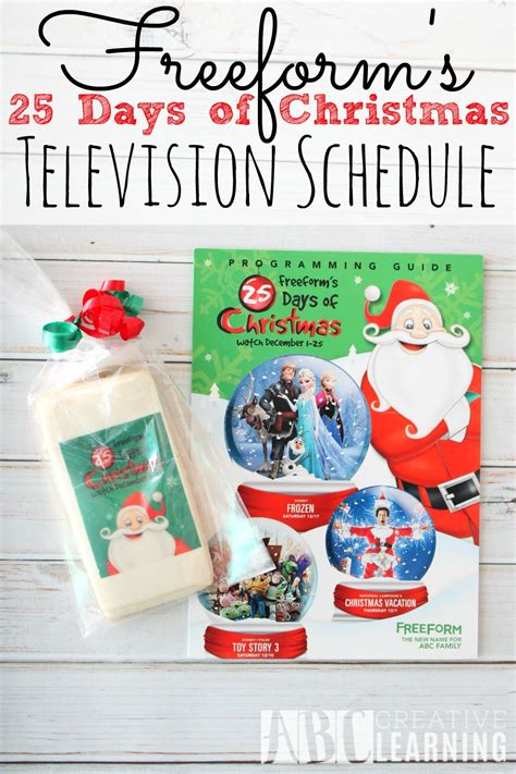 freeform s 25 days of christmas schedule