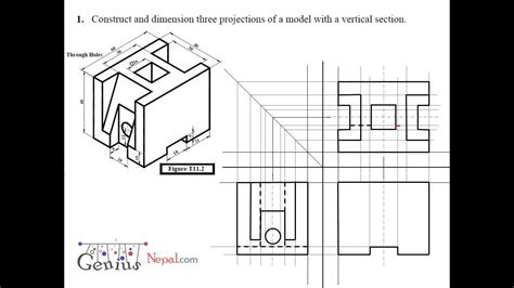 sectioning in engineering drawing pdf engineering drawing tutorials orthographic and sectional