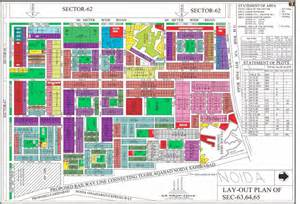Plan 65 Layout Plan Of Noida Sector 63 64 65 Hd Map