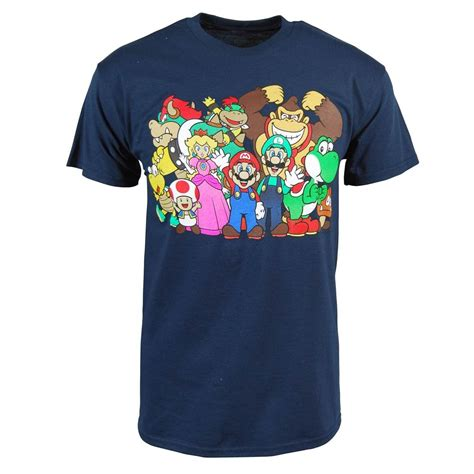 freeze mens mario bros t shirt blue