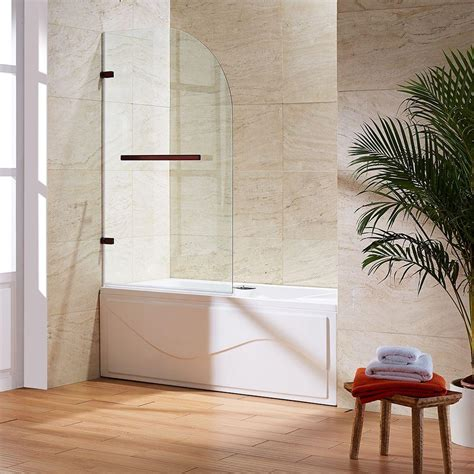 curved bathtub doors vigo orion 34 in x 58 in frameless curved pivot tub